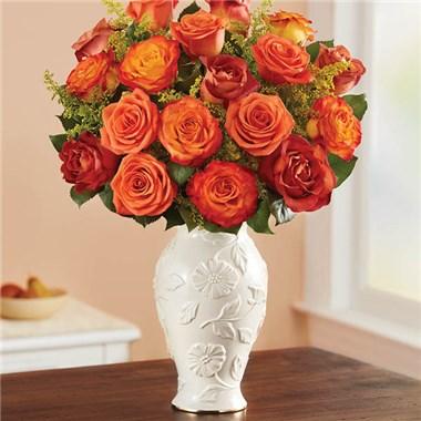 1 800 Flowers Autumn Sunset Bouquet In Lenox Vase 1 800 Flowers
